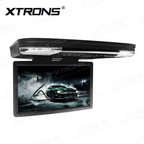 "HDMI 15.6"" LCD Coach Journey Car Video Flip Drown Monitor Roof DVD Player 1080P"