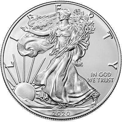 2020 - $1 1 oz American Silver Eagle Coin .999 fine BU - US Mint