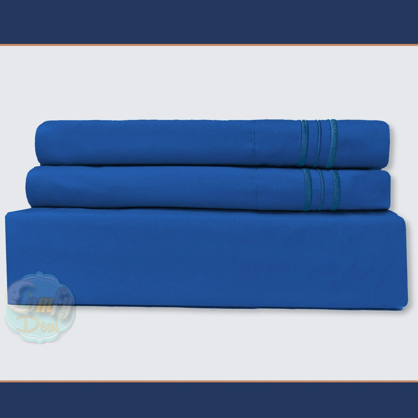 1800 Count Super Deluxe Hotel Quality 4 Piece Deep Pocket Bed Sheet Set