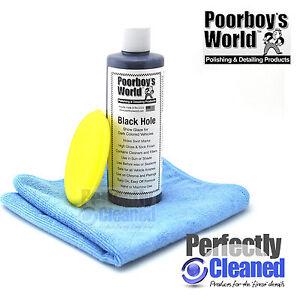 Poorboys Black Hole Glaze + Applicator Pad & Microfibre