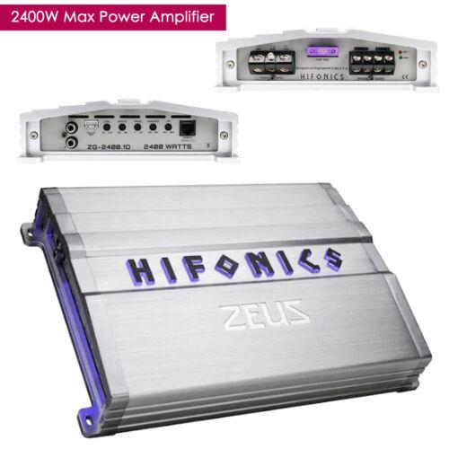 Hifonics Zeus ZG-2400.1D 2400W Mono Subwoofer Class D Car Audio Amplifier Amp