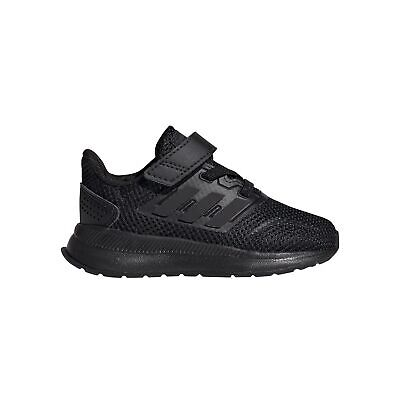 adidas Run Falcon Infant Kids Sports Trainer Shoe Black - UK 4