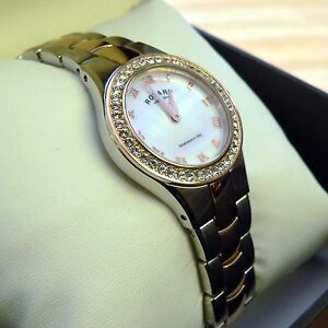 ROTARY WATCH Ladies Rose Gold Coloured and Stainless Steel LB03501/07