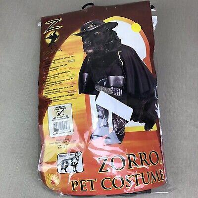 Black ZORRO Halloween Pet Costume Bad Hombre Bandito Dog Medium Poop - Bandito Halloween Costume