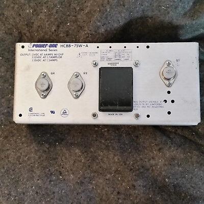 Powerone Hcbb-75w-a Power Supply 5vdc 6a - 12 Or 15vdc 100120220230240vac