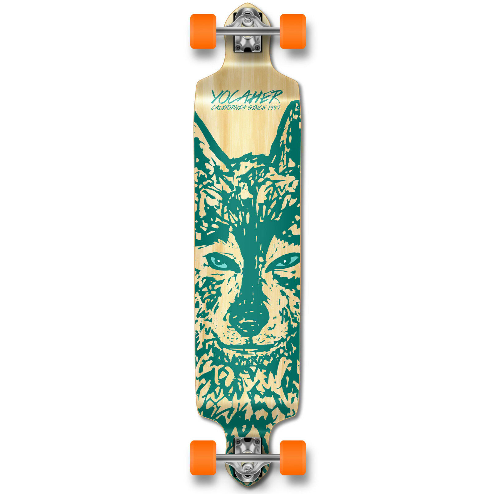 Yocaher Drop Down Longboard Complete - Spirit Animal WOLF