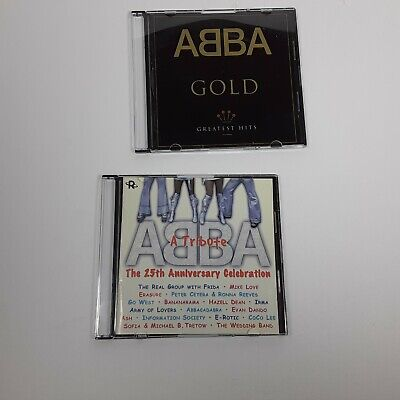 Abba CD Lot Of 2 Gold Greatest Hits, The 25th Anniversary Celebration