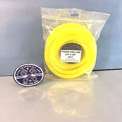 "NEW TYGON YELLOW FUEL LINE HOSE 1/4"" PRE-CUT 10 FT SEA-DOO KAWASAKI YAMAHA"