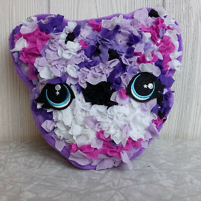 Plush Craft Purple Pink Kitty Cat Stuffed Animal Fabric by Number Kitten Head](Cat Stuffed Animal)