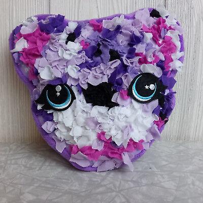 Cat Stuffed Animal (Plush Craft Purple Pink Kitty Cat Stuffed Animal Fabric by Number Kitten)