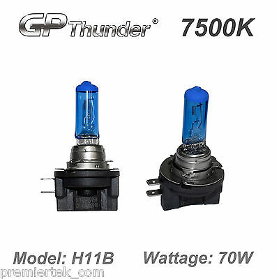 GP-Thunder 7500K H11B Super White Xenon Light Bulbs High Wattage (70w Xenon Bulb)