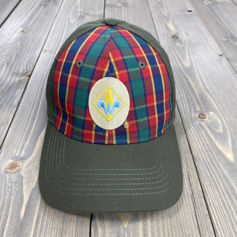 Boy Scouts of America WEBELOS Cub Scout Flex Hat Cap, Plaid Front (Size M/L)
