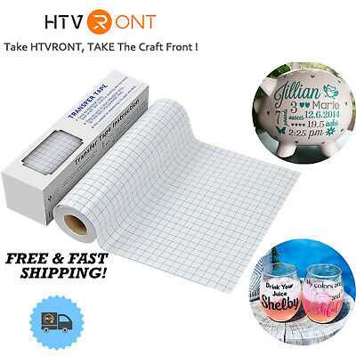 Htvront Vinyl Transfer Tape Roll 12x12 - Craft Application Paper For Cricut
