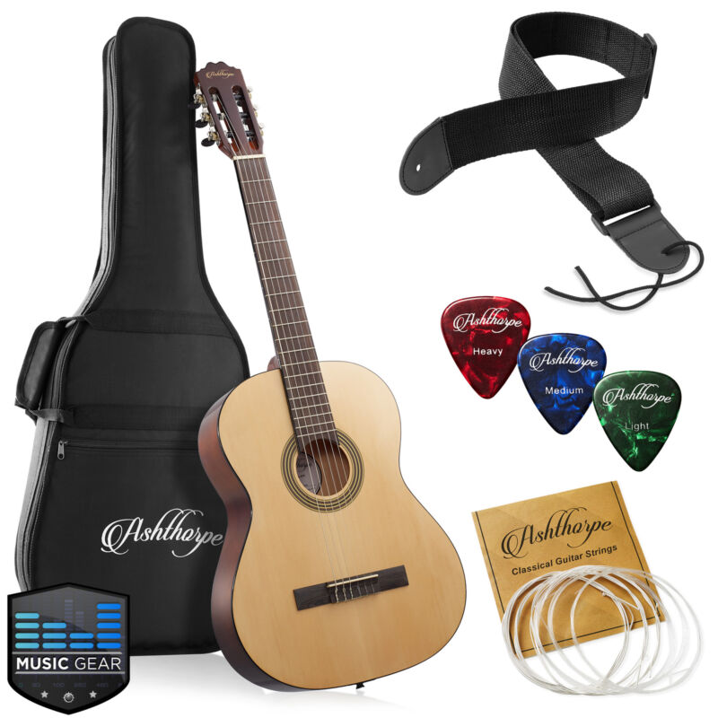 39-in Full-Size Classical Acoustic Guitar, Classic Natural with Nylon Strings