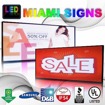 Full Color Led Sign 25 X 50 Double Sided 10mm Programmable Message Outdoor P10
