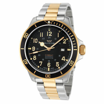 Glycine Men's Combat Sub GL0293 46mm Black Dial Stainless Steel Watch