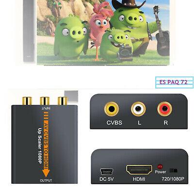 1080P Convertidor AV CVBS Compuesto a HDMI RCA Adaptador de Audio y...
