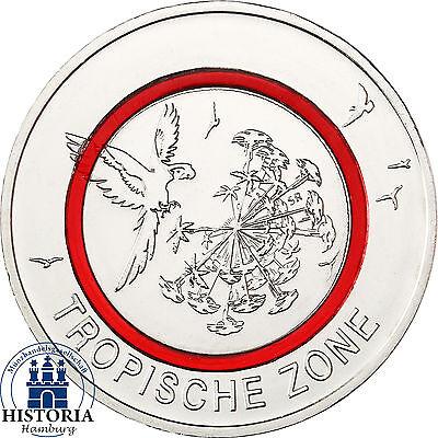 5 Euro Tropische Zone Gedenkmünze Deutschland 2017 Münze mit rotem Polymerring