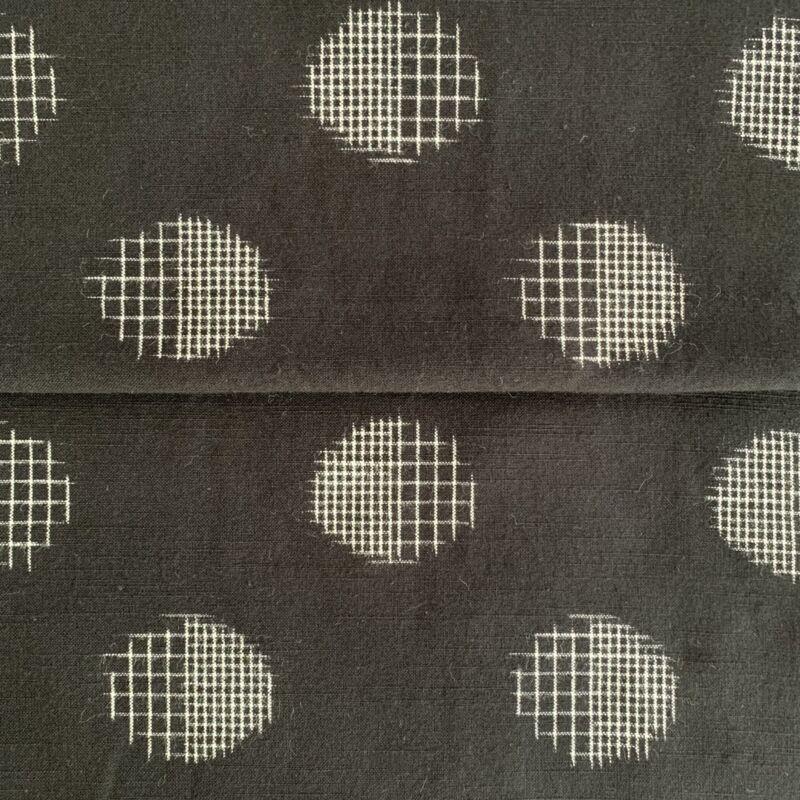"""Japanese Kasuri Cotton Textile New-Old Stock Mid Century Pattern 196.9"""" x 14.6"""""""