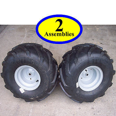 """20x10.00-8 TIREs RIMs WHEELs ASSEMBLY Garden Tractor Riding Mower 3/4"""" Shaft P28"""