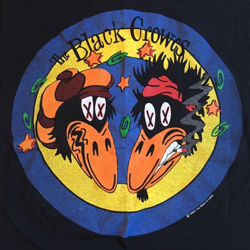 VTG 1992 The Black Crowes Tour T Shirt L Japan Australia New Zealand Sgl Stitch