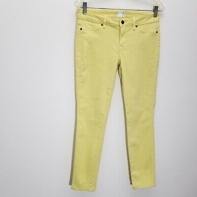 Rich Skinny Womens Jeans Size 29 Stretch Denim Yellow Low Rise Crop Ankle
