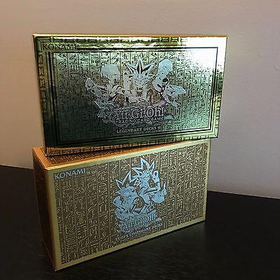 YUGIOH TCG: YUGI'S LEGENDARY DECKS 1 & 2 - EMPTY GOLD STORAGE BOX SET