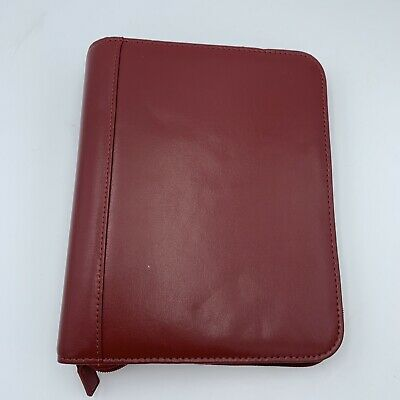 Franklin Covey Planner Binder 7 Ring Zip Around Red Maroon Classic 10x8
