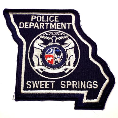 Vintage SWEET SPRINGS Missouri MO Police Department Embroidered Patch RARE