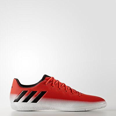 NIB MENS Adidas Messi 16.3 IN Indoor Soccer Cleats BA9017 Red Black White Adidas Indoor Soccer Cleats