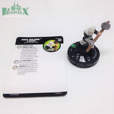 Heroclix TMNT Series 4 Unplugged set Foot Elite (hammer) #012 Uncommon w/card!