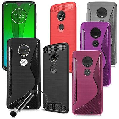 For Motorola Moto G7 Power / G7+ Phone Case Gel Cover Silicone Stylish + Stylus