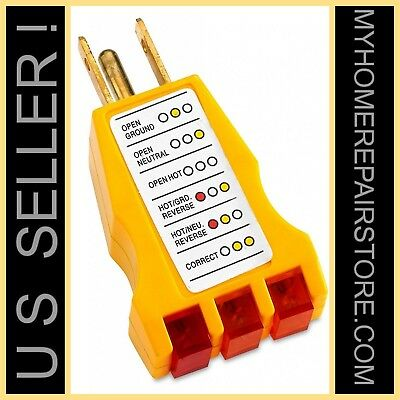Free Sh Us Selleriit 264003-wire 125 Vacreceptacle Outlet Ground Tester