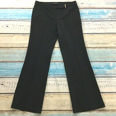 "Ann Taylor Womens Pants size 10 Long Tall w/34"" insm Black Stretch Career Dress"
