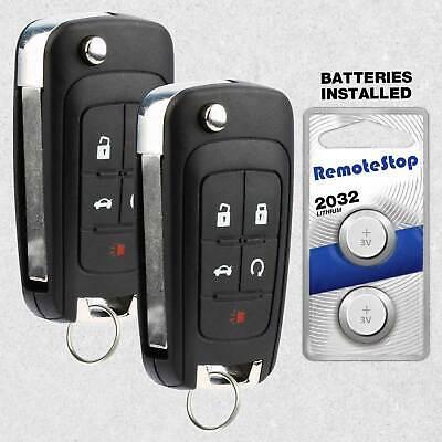 2 For 2010 2011 2012 2013 2014 2015 2016 Chevrolet Cruze Equinox Remote Key Fob