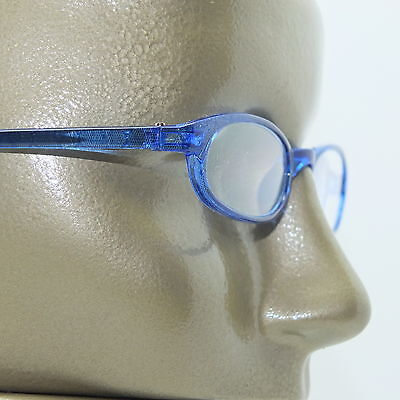 Reading Glasses Sapphire Wide Cat Eye Sexy Blue +1.00 Lens  ()