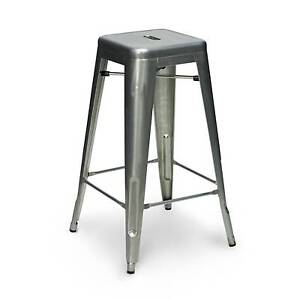 set 4 * Tolix Stool (black, white, metal) Hornsby Hornsby Area Preview