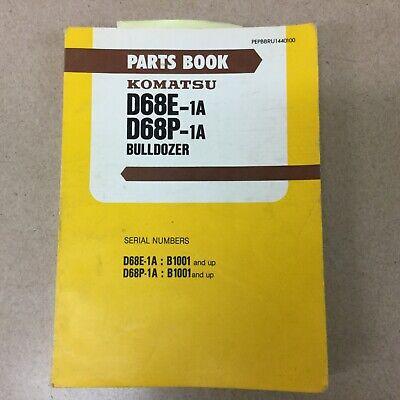 Komatsu D68e-1a D68p-1a Parts Manual Book Catalog Bulldozer Tractor Dozer Guide
