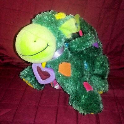 "Jelly Kitten Jellycat DREW the Dragon Green Soft 10"" Sensory Plush w/Cloth Book"