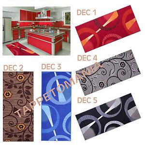 Tappeto cucina antiscivolo rosso blu nero lavabili in - Tappeto bagno rosso ...