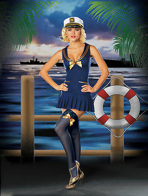 Adult Halloween Sexy Seaside Pin-Up Sailor Girl Costume