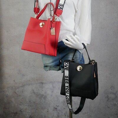 Leder Tasche Tragetasche (♥ Umhängetasche Tragetasche Schultertasche Leder Optik Crossover T2)