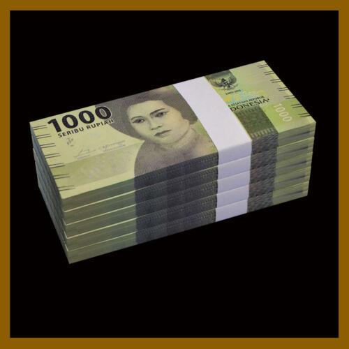 Indonesia 1000 (1,000)  Rupiah x  500 Pcs Bundle (1/2 Million Brick), 2016 UNC