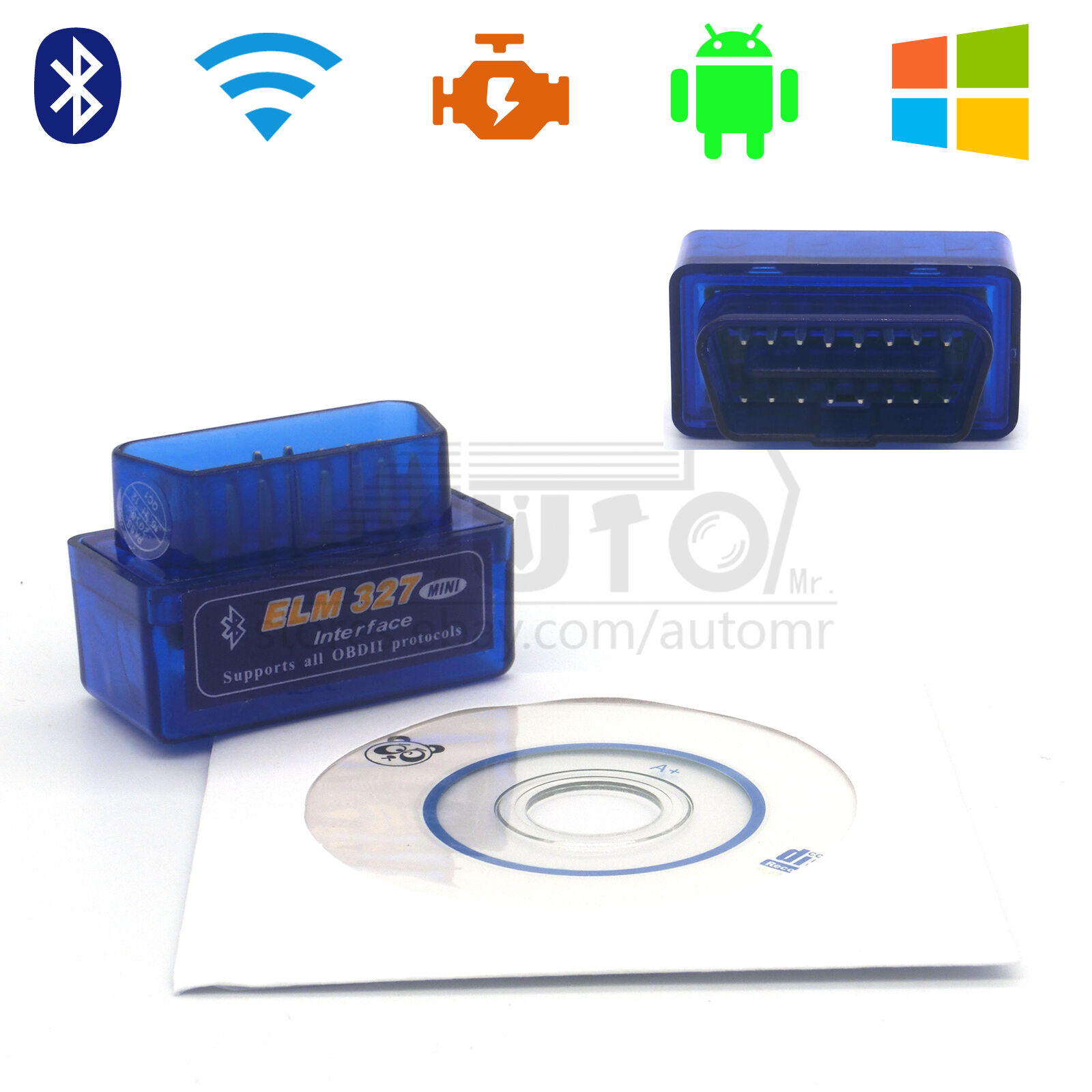 Obdii Scanner Code Reader Bluetooth Obd2 Scan Tool For