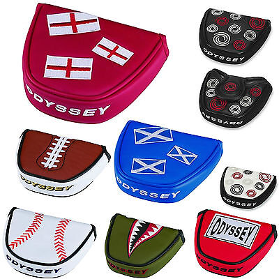 ODYSSEY PUTTER COVER ** NEW 2020 RANGE ** ODYSSEY MALLET PUTTER HEADCOVER GOLF