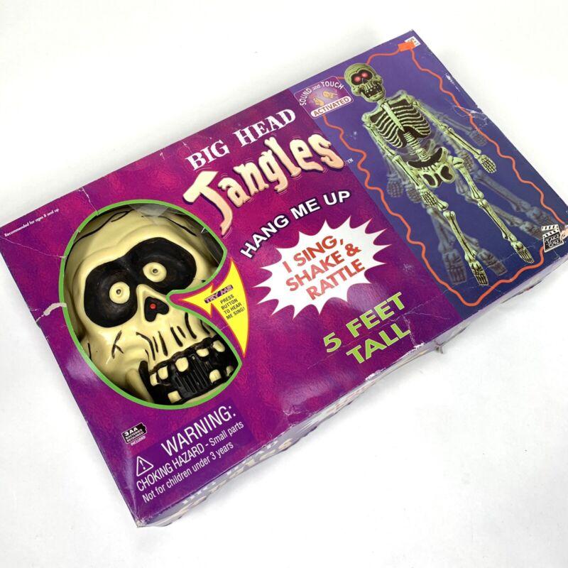 Vintage 2004 Big Head Jangles 5 Ft light up Halloween display motion skeleton