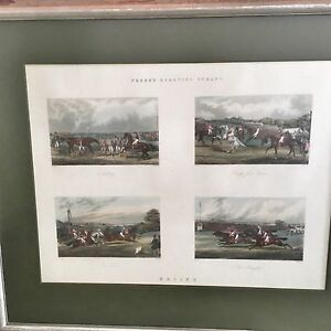 Large Vintage Lithograph in Washed Gilt Timber Frame Marrickville Marrickville Area Preview
