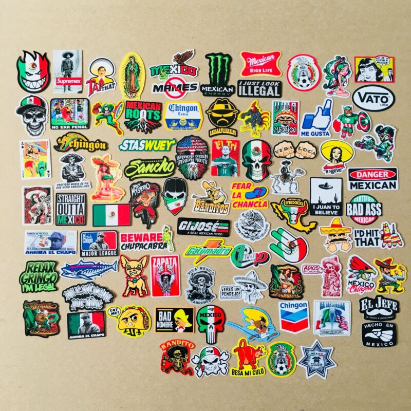 SUPER MEXICAN Hard Hat Stickers 82+ MEXICO HardHat Sticker & Decals, Helmet MX