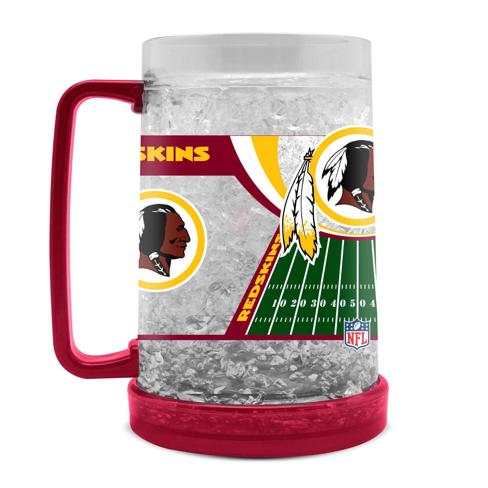 NFL Washington Redskins Kristall Krug Tasse Mug Bier Freezer Football Pils