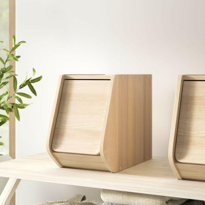 Wooden Storage Box Modern Stylish Living Bedroom Closet